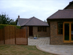 Extensions and terrace - Horsham